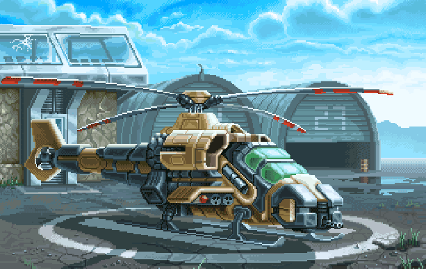Super Thunder Blade Sega Genesis Mega Drive Arcade Pixel Art Xtreme Retro