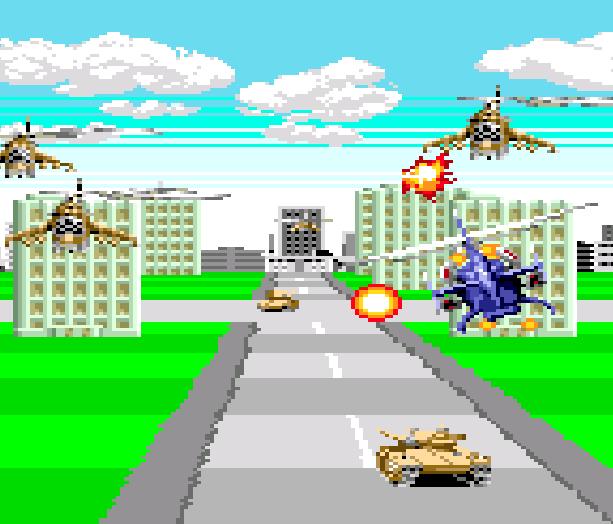 Super Thunder Blade Sega Genesis Mega Drive Xtreme Retro 1