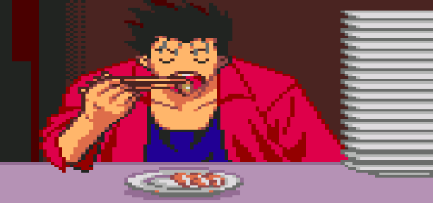 Cooking Fighter Hao NIS PSX PSOne PlayStation Pixel Art Xtreme Retro