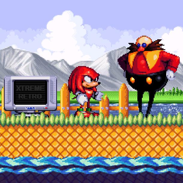 Knuckles the Echidna Dr Ivo Robotnik Eggman Sega Genesis Mega Drive Pixel Art Xtreme Retro