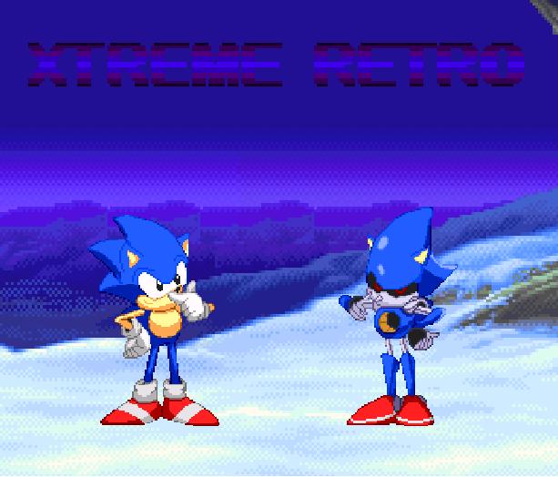 Sonic the Hedgehog Anime Metal Sonic SEGA Pixel Art Xtreme Retro