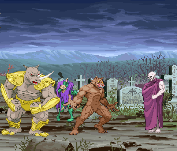 Altered Beast Sega Genesis Mega Drive Arcade Beat em up Pixel Art Xtreme Retro