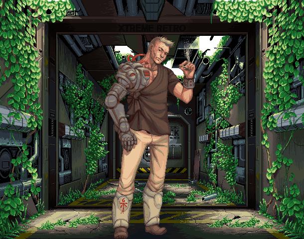 Bionic Commando Capcom Arcade NES Game Boy Pixel Art Xtreme Retro