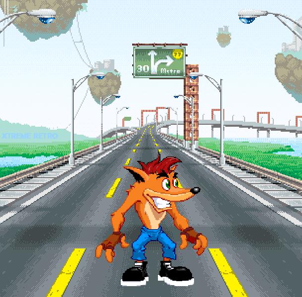 Crash Nitro Kart Game Boy Advance Xtreme Retro Pixel Art