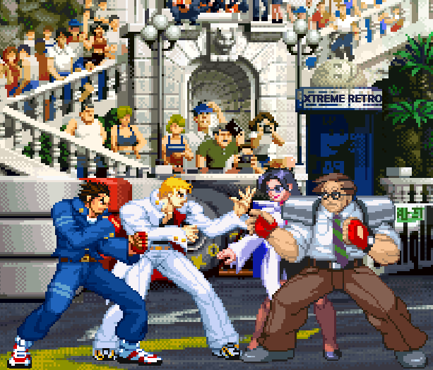 Rival Schools United by Fate Capcom Arcade PlayStation PSOne Xtreme Retro Pixel Art