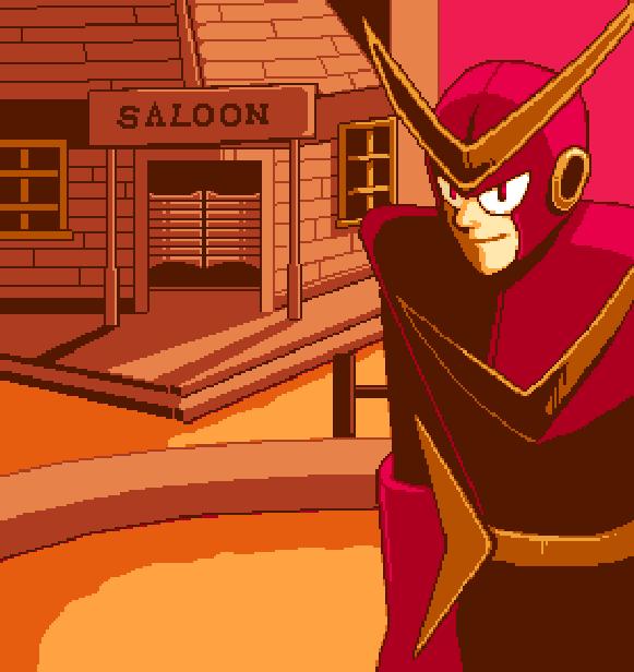 Super Adventure Rockman Quickman Capcom Sega Saturn Sony PlayStation PSOne PSX Pixel Art Xtreme Retro