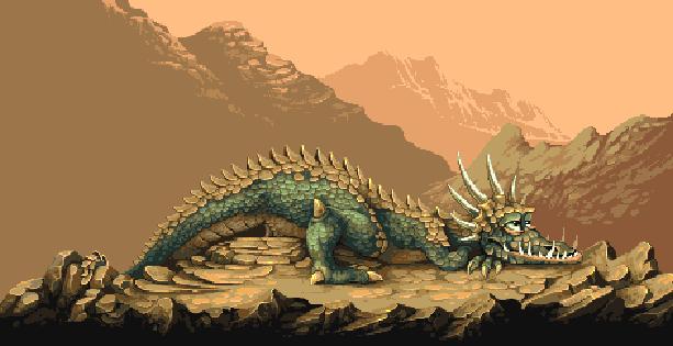 The Eidolon Epyx LucasFilms Pixel Art Dragon Xtreme Retro