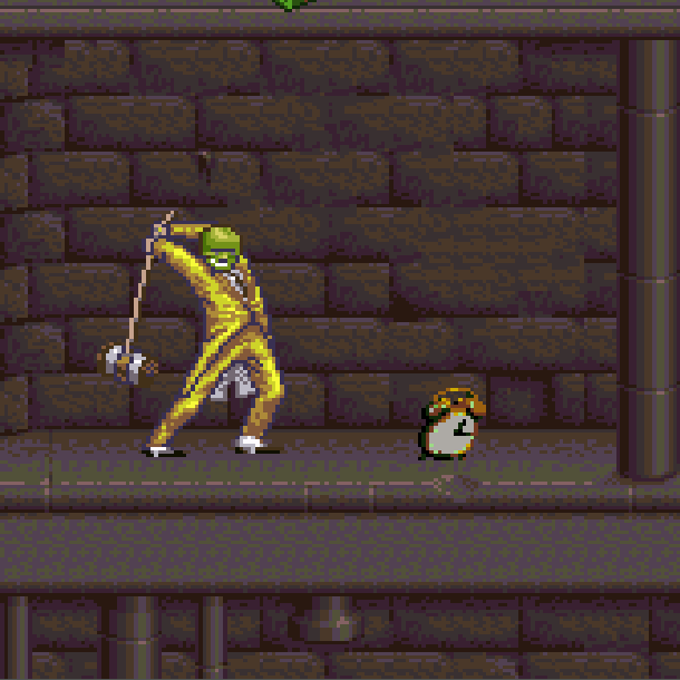 The Mask THQ Super Nintendo SNES Jim Carrey Videogame Xtreme Retro 8
