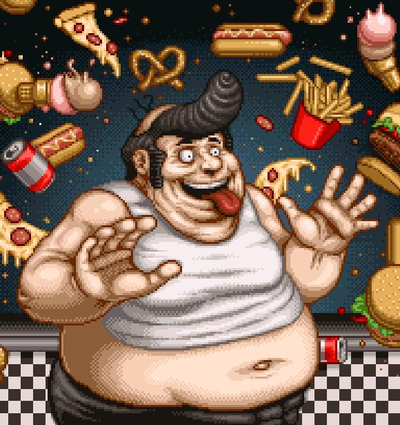 Tongue of the Fatman Worst Videogame Pixel Art Xtreme Retro Sega Genesis Mega Drive  Commodore 64 IBM PC