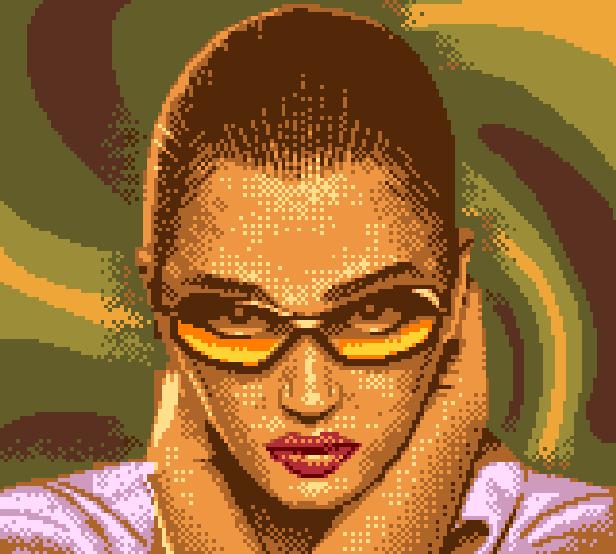Alone in the Dark Movie Pelicula Uwe Boll Tara Raid as Aline Cedrac Pixel Art Xtreme Retro