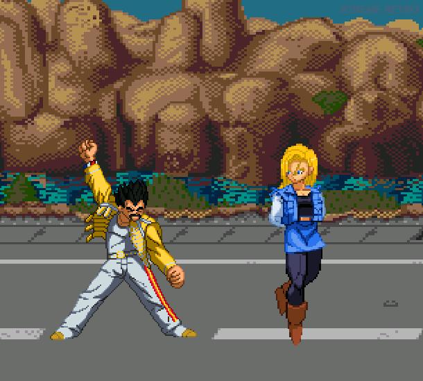 DBZ Buyu Retsuden Sega Genesis Mega Drive Pixel Art Xtreme Retro 6