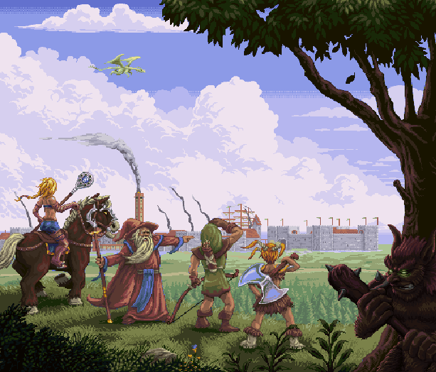 Dungeons & Dragons Warriors of the Eternal Sun Sega Genesis Mega Drive RPG Pixel Art Xtreme Retro