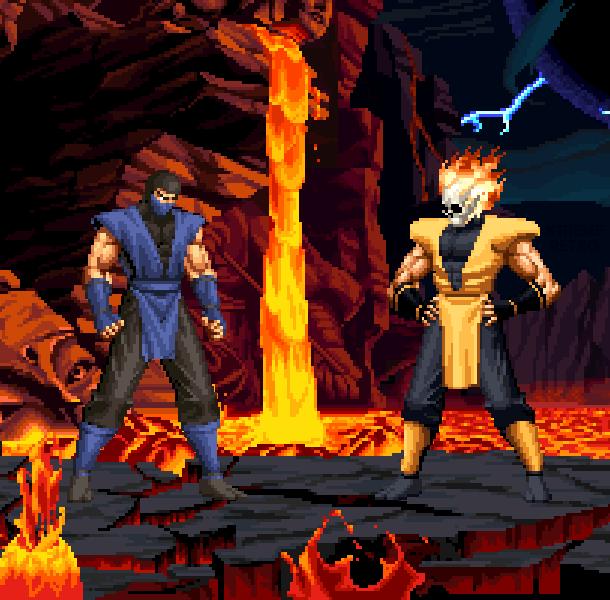 Mortal Kombat Mythologies Sub Zero Vs Scorpion Sega Genesis Mega Drive Pixel Art Xtreme Retro