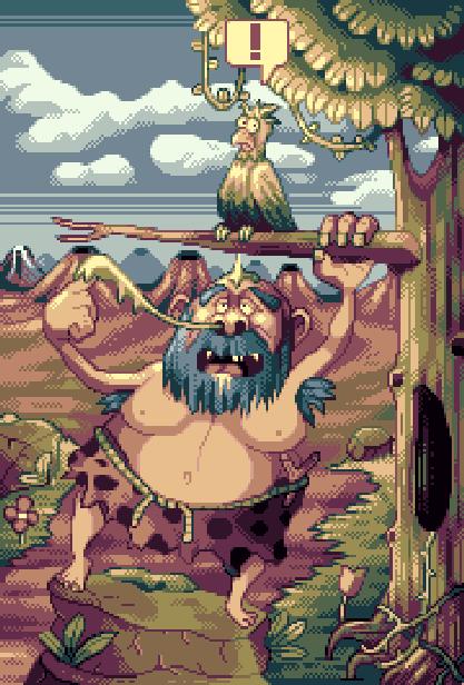 Big Nose the Caveman Camerica Codemasters NES Amiga Atari ST Sega Master System Prototype Xtreme Retro Pixel Art