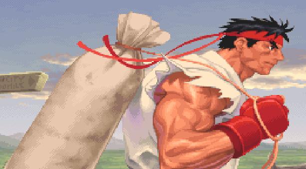 Ryu Hoshi Street Fighter Pixel Art Xtreme Retro