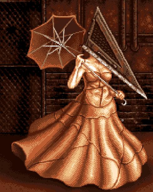 Silent Hill PSP Pixel Art Survival Horror Xtreme Retro Konami