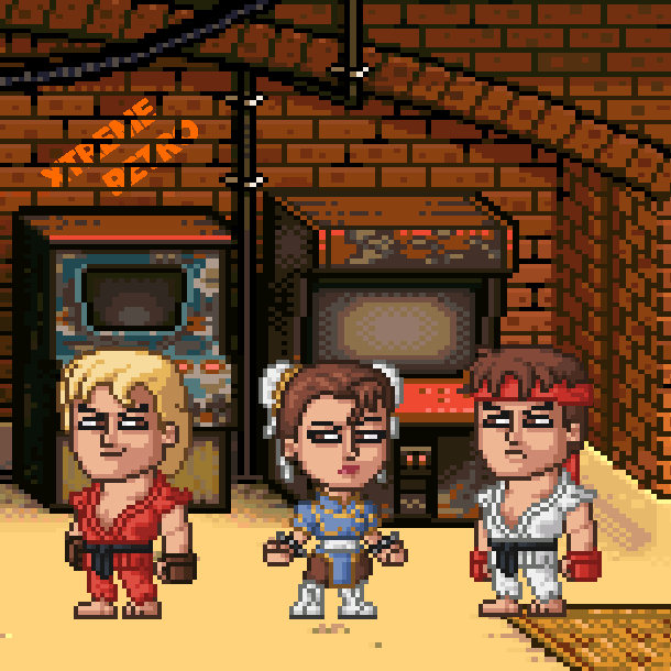 Street Fighter II Parody Capcom Pixel Art Xtreme Retro