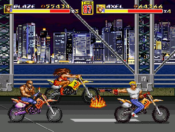 Streets of Rage 2 Bare Knuckle II Sega Genesis Mega Drive Pixel Art Xtreme Retro 1