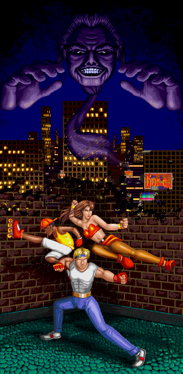 Streets of Rage 2 Bare Knuckle Pixel Art Xtreme Retro Sega Genesis Mega Drive Master System Game Gear