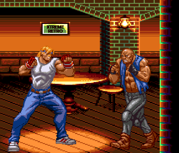 Streets of Rage Bare Knuckle 2 Sega Genesis Mega Drive Master System Game Gear Beat em up Pixel Art Xtreme Retro C