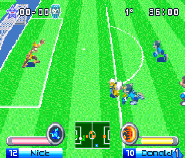 Disney Sports Football Konami Game Boy Advance GBA Xtreme Retro 8