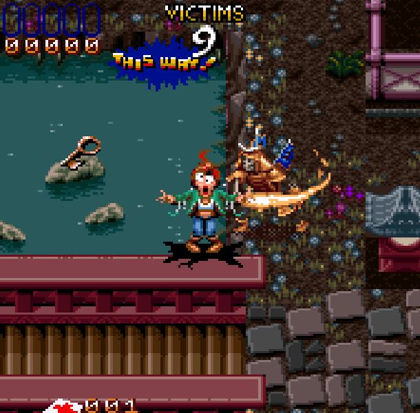 Ghoul Patrol Super Nintendo SNES LucasArts Zeke Julie Xtreme Retro 2