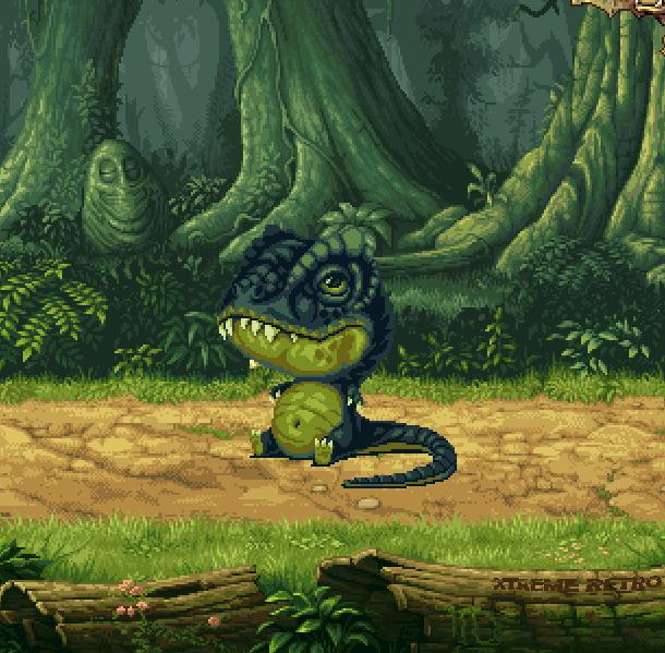 Jurassic Park Rampage Edition Sega Mega Drive Xtreme Retro Pixel Art