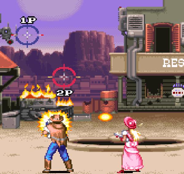 Wild Guns Super Nintendo SNES Natsume Shooter Xtreme Retro 1