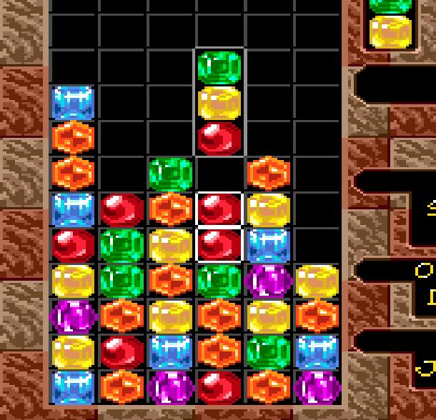 Columns Sega Genesis Mega Drive Puzzle Xtreme Retro