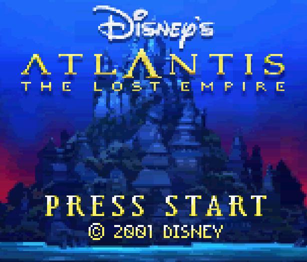 Atlantis The Lost Empire Disney Game Boy Color GBC Xtreme Retro 1