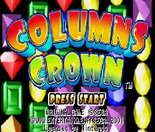 Columns Crown Sega Puzzle Game Game Boy Advance Xtreme Retro 2