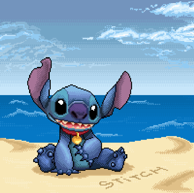 Disney Lilo and Stitch Sony PlayStation PSOne PSX PlayStation 2 PS2 Experiment 626 Pixel Art Xtreme Retro