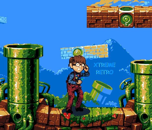 Frikazo Super Mario Bros Nintendo Arena Blast PC Pixel Art Xtreme Retro