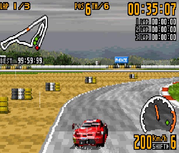 TOP GEAR GT CHAMPIONSHIP GBA Xtreme Retro 5