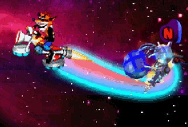 Crash Tag Team Racing Pixel Art Xtreme Retro