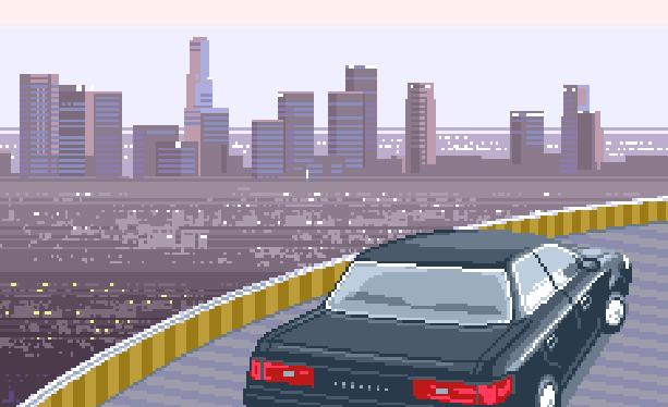 Metropolis Street Racer Sega Dreamcast Xtreme Retro Pixel Art