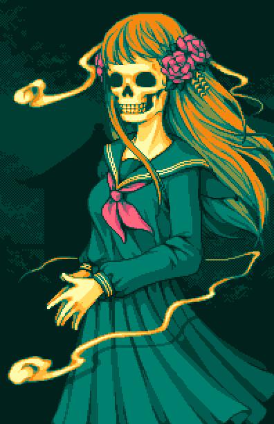 Nanashi no Game Square Enix Nintendo DS Survival Horror Pixel Art Xtreme Retro