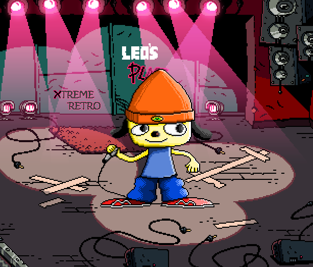 PARAPPA THE RAPPER 2 SONY PLAYSTATION 2 PS2 PIXEL ART XTREME RETRO