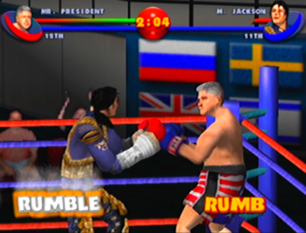 READY 2 RUMBLE ROUND 2 MIDWAY NINTENDO 64 N64 PLAYSTATION 2 PS2 PSONE PSX DREAMCAST XTREME RETRO 10