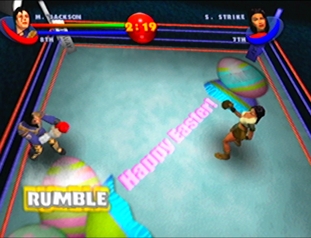 READY 2 RUMBLE ROUND 2 MIDWAY NINTENDO 64 N64 PLAYSTATION 2 PS2 PSONE PSX DREAMCAST XTREME RETRO 16