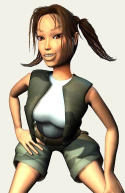 Young Lara Croft Xtreme Retro
