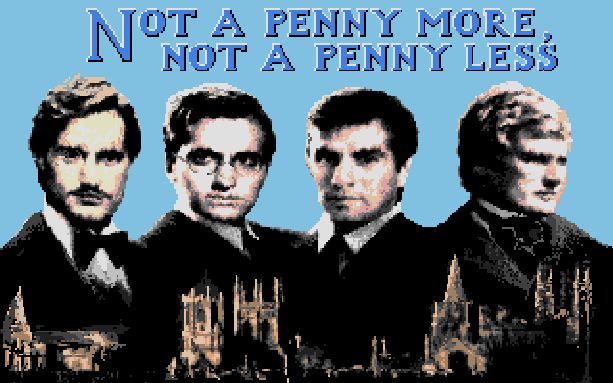 Not a Penny More Not a Penny Less Atari ST Spectrum Amstrad CPC Commodore 64 BBC Domark Pixel Art Xtreme Retro