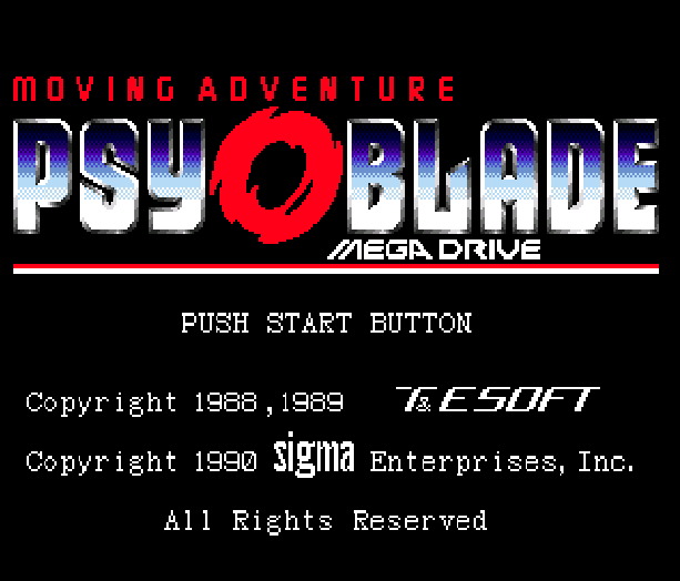 Psy o Blade Moving Adventure Sega Genesis Mega Drive Xtreme Retro 1