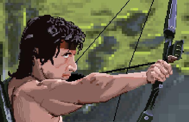 Rambo III Sega Genesis Mega Drive Pixel Art Xtreme Retro