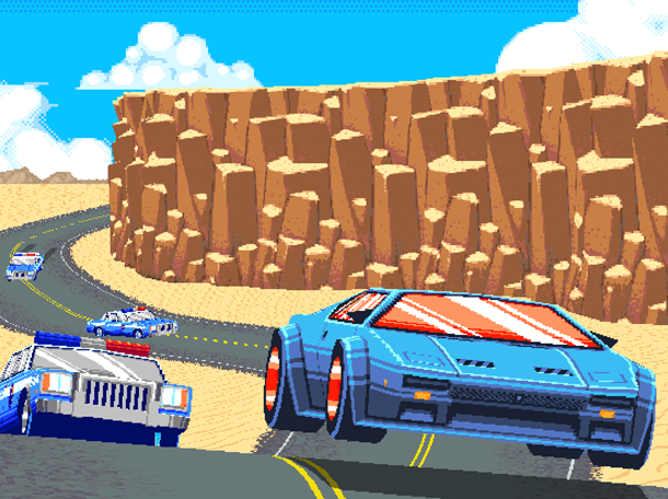 Super Chase HQ Taito Super Nintendo SNES Xtreme Retro Pixel Art