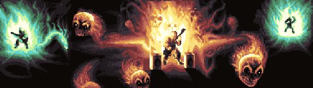 Tenacious D Devil May Fry Guitar Hero Xtreme Retro Pixel Art