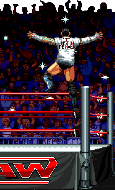 WWF Raw Acclaim Sega 32X Mega Drive MD Genesis Super Nintendo SNES Game Gear Pixel Art Xtreme Retro