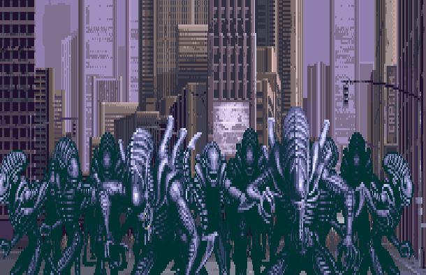 Alien Vs Predator Super Nintendo SNES Activision Xtreme Retro Pixel Art 1