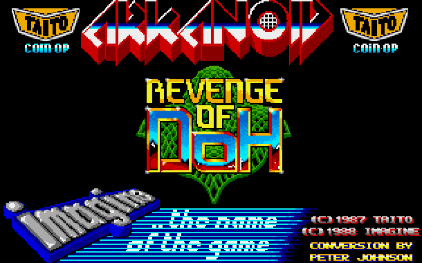 Arkanoid Revenge of Doh Taito Arcade Amstrad CPC Atari ST Commodore 64 C64 Amiga Sharp X68000 MSX PC ZX Spectrum Apple II Xtreme Retro 1