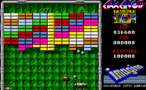 Arkanoid Revenge of Doh Taito Arcade Amstrad CPC Atari ST Commodore 64 C64 Amiga Sharp X68000 MSX PC ZX Spectrum Apple II Xtreme Retro 4